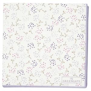 Pappersservett Ginny white small 20pcs - Greengate