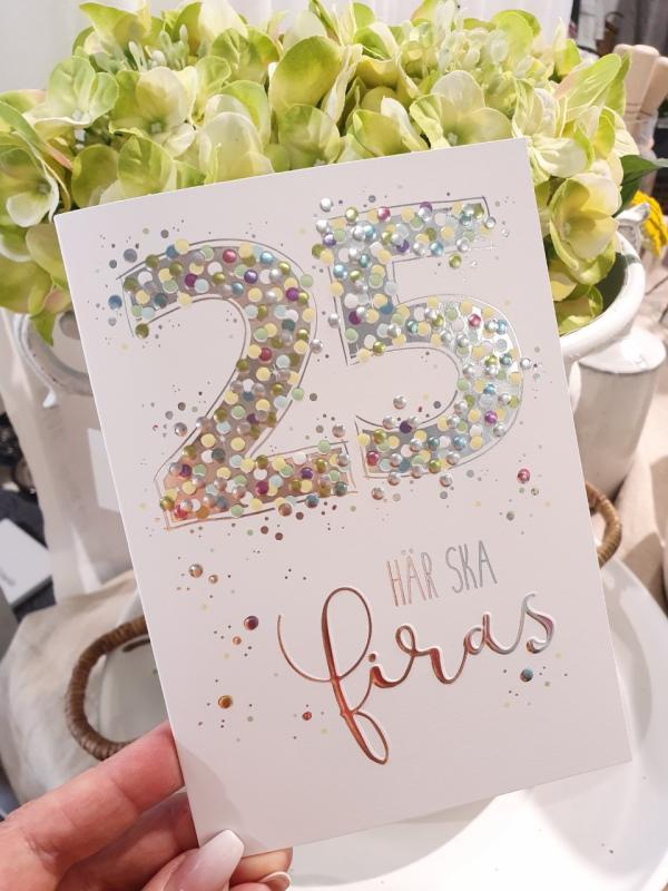 25 - här ska firas, kort från Pictura