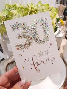 30 - här ska firas, kort från Pictura