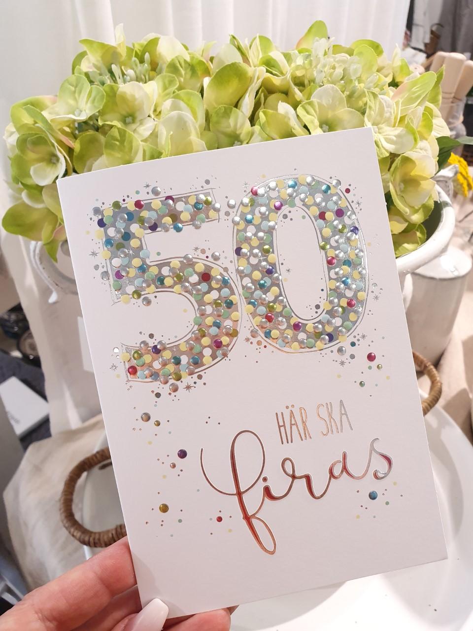 50 - här ska firas, kort från Pictura