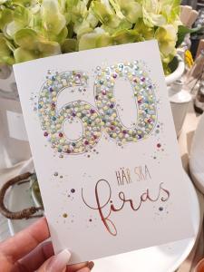 60 - här ska firas, kort från Pictura