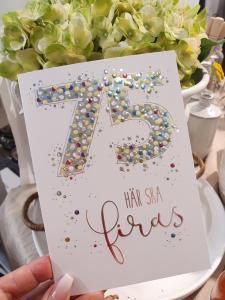 75 - här ska firas, kort från Pictura