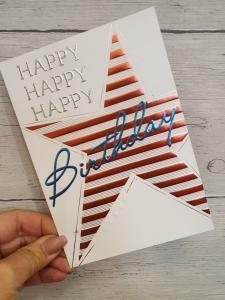 Happy Happy Happy Birthday, kort från Pictura (stor stjärna)