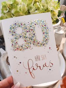 80 - här ska firas, kort från Pictura