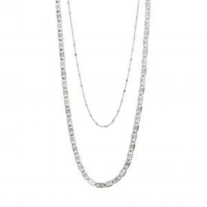 Halsband Intuition Silverpläterat – Pilgrim