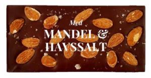 Mandel & Havssalt, Mörk Choklad 70% - Pralinhuset