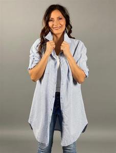 Randig långskjorta, blå-vit (Tyra) - Mix by Heart