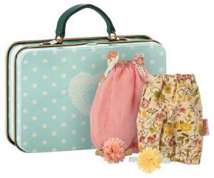 Maileg, Micro Suitcase with 2 dresses (Girl)
