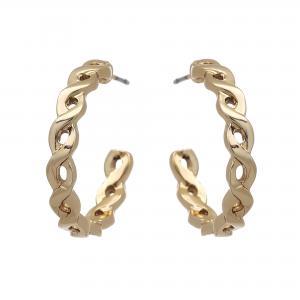 Örhängen, Flätad guldfärgad ring - Gemini