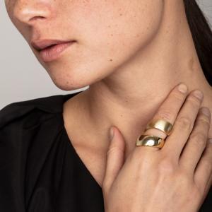Ring, Alma, Guldpläterad - Pilgrim
