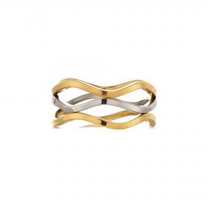 Ring i guld- och silver Rostfritt stål - Gemini