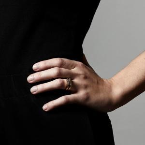 Ring, Radiance, Guldpläterad, Kristall - Pilgrim
