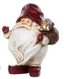 Knubbig Röd Tomte med julklappssäck - A lot