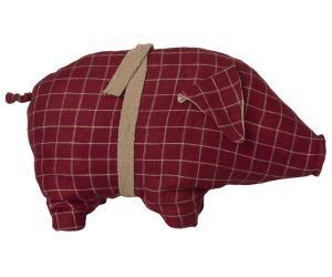 Rödrutig gris, Medium - Maileg