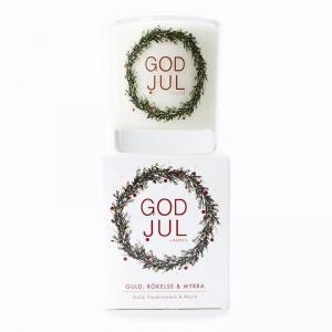Klinta, Stora Doft- och massageljuset - Rökelse & Myrra (GOD JUL)