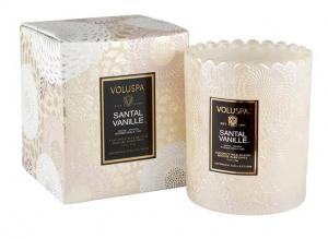 Voluspa Scalloped Edge Candle - Santal Vanille