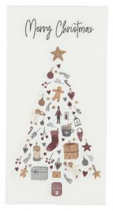 Servett Merry Christmas med julgran,  Ib Laursen