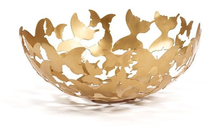 Skål Butterfly Guld, Carolina Gynning
