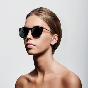 Solglasögon, Vanille Brown Sköldpaddsmönster - Pilgrim