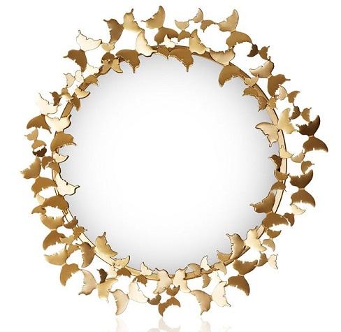 Mässingsfärgad Spegel Butterfly, Carolina Gynning