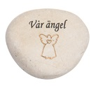 """""""Vår ängel""""  Sten med gravyr"""