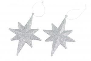 Glittrig stjärna (silverfärgad) - A lot