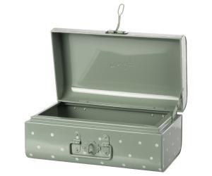 Storage suitcase, Small - Dusty green w. dots - Maileg     LEV NOV/DEC