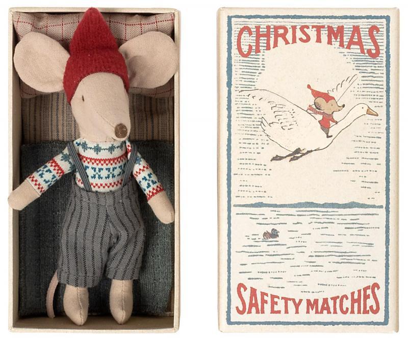 CHRISTMAS MOUSE IN BOX - BIG BROTHER (Maileg)    KOMMER I OKT/NOV