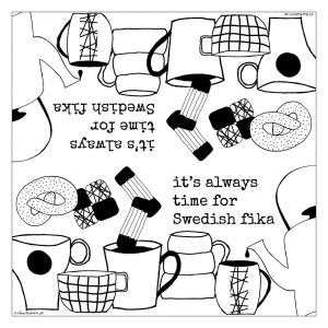 Kaffeservett, SWEDISH FIKA - Erika Tubbin