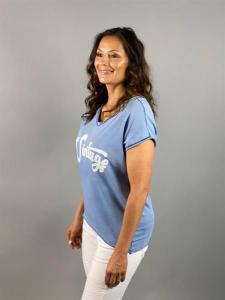 T-shirt med tryck, blå (Vinny) - Mix by Heart