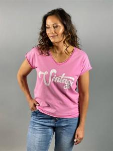 T-shirt med tryck, starkrosa (Vinny) - Mix by Heart