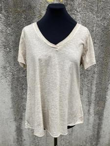 T-shirt med v-hals, Beige (Tuva) - Mix by Heart