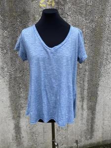T-shirt med v-hals, Jeansblå (Tuva) - Mix by Heart