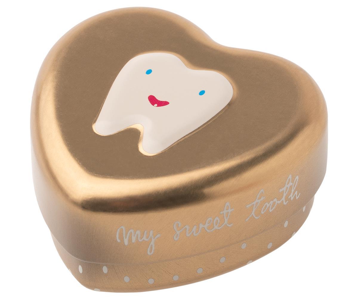 Maileg, Burk till tappade tänder - Guld