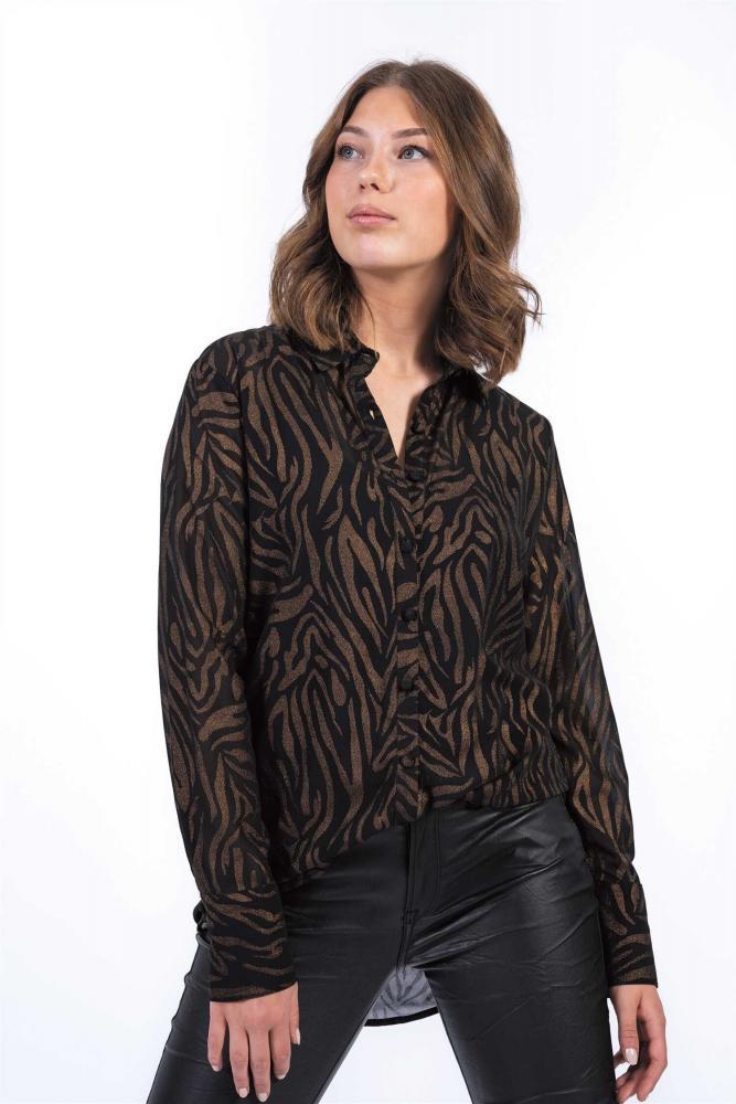 Tempest skjorta Svart/Antik/Guld - Capri Collection