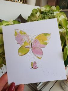 Kort med 2 fjärilar, från Pictura