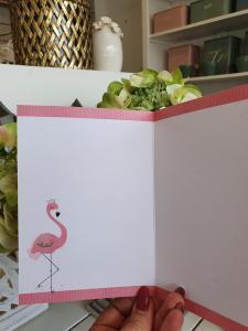 Kort med flamingo, från Pictura