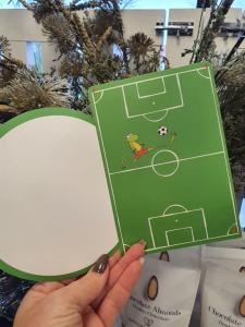 Grattis, Kort med fotboll, Pictura