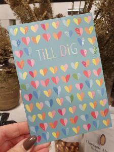 Till Dig, Kort med färgglada hjärtan, Pictura