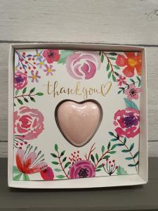 Mini Hjärt Tvål i ett kort, Thank You