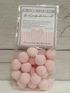 Jordgubbskulor - Mjuka jordgubbskarameller