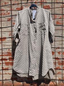 Dotti Långskjorta/Skjortklänning  - Taupe, Onesize - Reunion Home