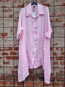 Långskjorta i linne Rosa - Rough & Rose