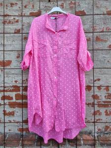 Långskjorta Stjärnor Rosa - Rough & Rose