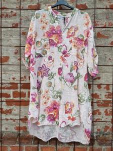 Långskjorta Big Flower Rosa - Rough & Rose