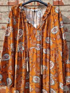 Klänning Paisley terracotta - Rough & Rose