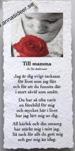 Diktkort - Till mamma (röd ros)