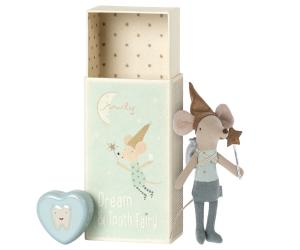 Tooth fairy mouse in matchbox - Blue - Maileg