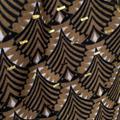 Sjal, mönstrad i kamel/svart med gulddetaljer - Mix by Heart