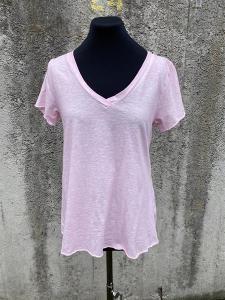 T-shirt med v-hals, Rosa (Tuva) - Mix by Heart